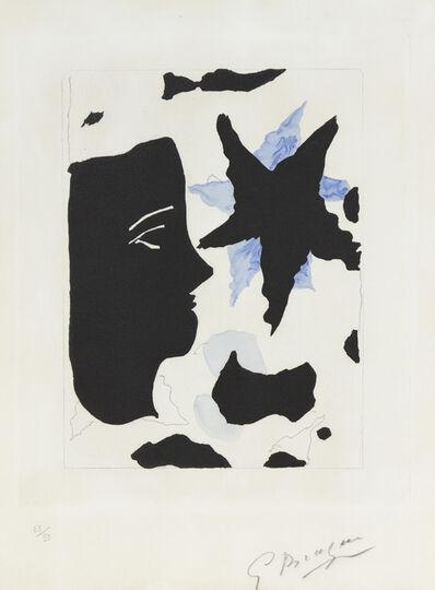 Georges Braque, 'Tête en Profil et l'Etoile', 1960
