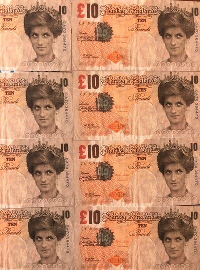 Banksy, 'Di-Faced Tenners, 10 GBP,note'