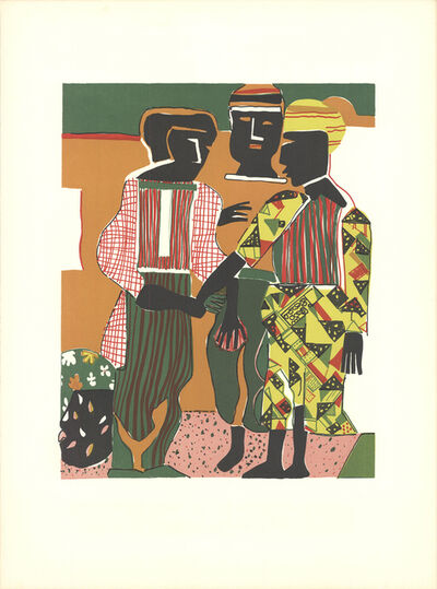 "Romare Bearden, 'Romare Bearden - Conjunction - 1983 Lithograph 28"" x 21""', 1983"