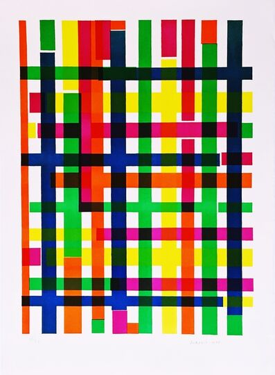 Piero Dorazio, 'Untitled Mid Century Modern Geometric Abstraction', 1967