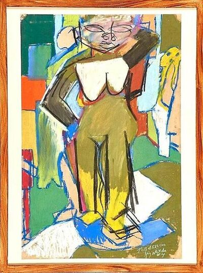 Jay Milder, 'Rare 1964 Figurative Abstraction piece (Subway Series)', 1960-1969