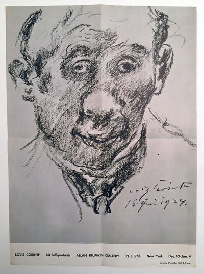 Lovis Corinth, 'Lovis Corinth, 60 Self Portraits, Allan Frumkin Gallery, 32 E. 57th, New York, Dec 1-Jan 4', ca. 1960