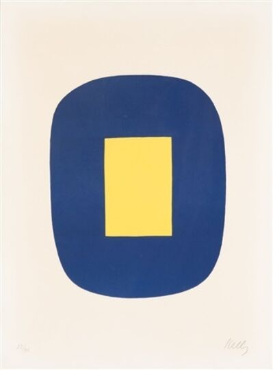 Ellsworth Kelly, 'Blue and Yellow', 1965