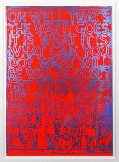 Mel Bochner, 'Oh Well (Red) ', 2020