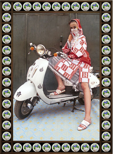 Hassan Hajjaj, 'Blue Eyes', 2010