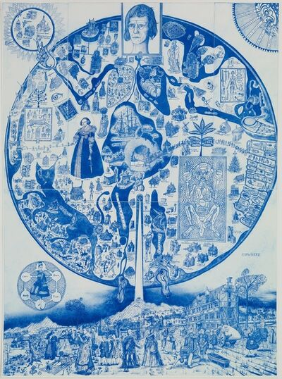 Grayson Perry, 'Map of Nowhere (blue)', 2008