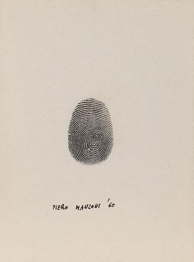 Piero Manzoni, 'Impronta del pollice destro', 1960