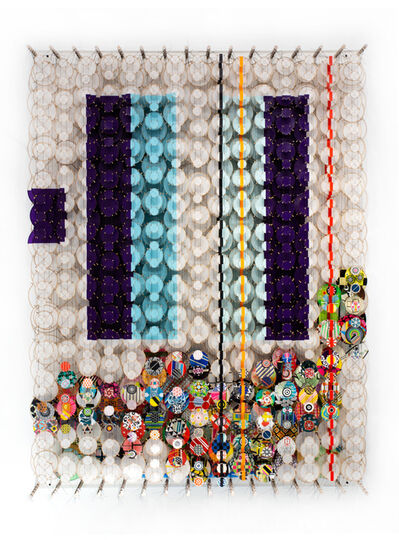 Jacob Hashimoto, 'Time's Great Pull Earthward – Innocent and Best Forgotten', 2019