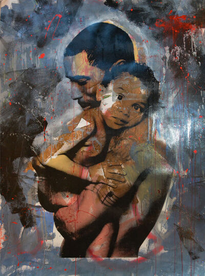 Skyler Grey, 'Love Father and Child (Red Rain)', 2014