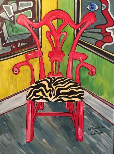 David Harper, 'Red Georgian Chair', 2016