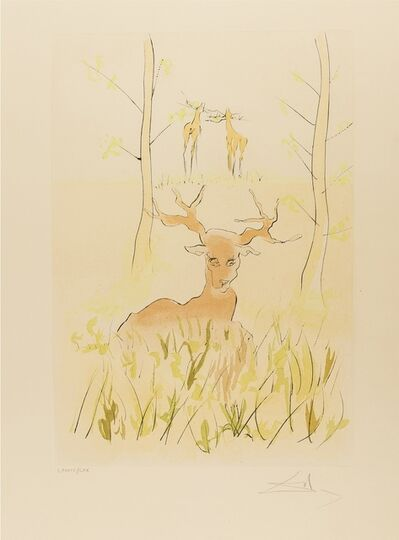 Salvador Dalí, 'The Sick Stag (from La Fontaine's Bestiary Dalinized) (Field 74-1-F; M&L 659)', 1974