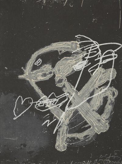 Antoni Tàpies, 'Blanc sur noir', 2011