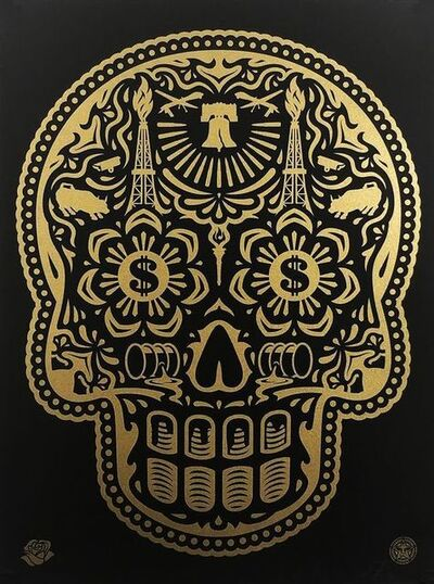 Shepard Fairey, 'Power and Glory Black and Gold (Large edition of 50)', 2014