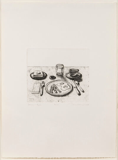 Wayne Thiebaud, 'Bacon and Eggs, from Delights', 1964