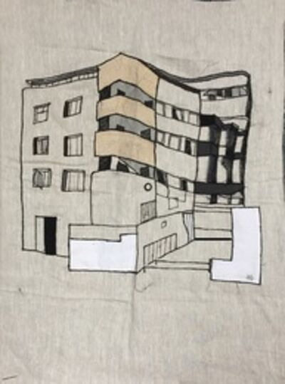 Maria Arendt, 'A Yard and Balconies', 2019