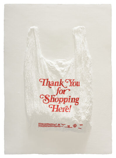 Analia Saban, 'Thank You for Shopping Here! Plastic Bag', 2016