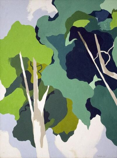Easton Pribble, 'Two Sycamores', 1965