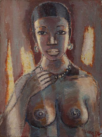 Gerard Sekoto, 'Portrait de femme en buste', 1976