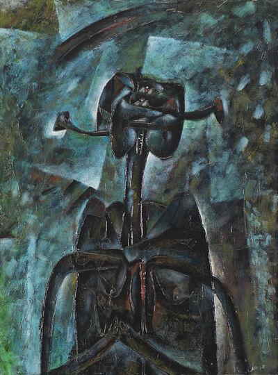 Gianni Dova, 'Personaggio ansioso', 1957
