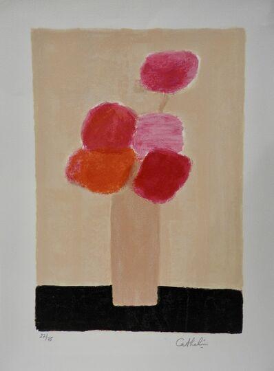 Bernard Cathelin, 'Bouquet of five pink flowers', 2001