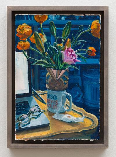 Christine Frerichs, 'Orange ranunculus, pink tulip, fertility test', 2019