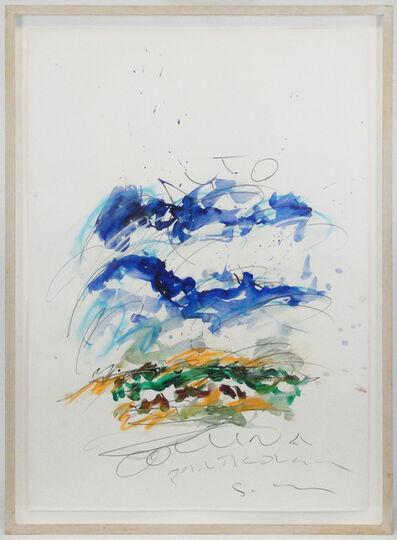 Mario Schifano, 'Collina particolare (Particular hill)', 80's (XXth century)