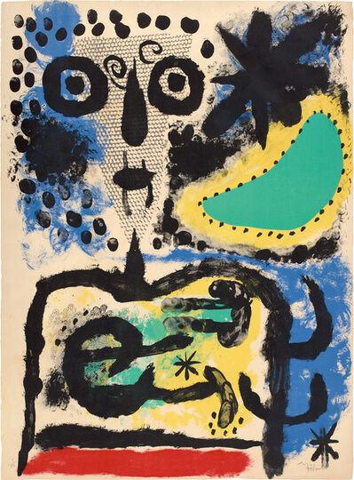 Joan Miró, 'Personnage nuageux (Cloudy Figure) (M. 219)', 1955