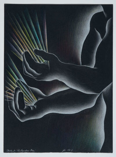 Judy Chicago, 'Study for The Rainbow Man (2)', 1983