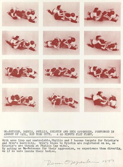 Dennis Oppenheim, 'Three color screenprints', 1978 * Go, Between, 1977 * Feedback, 1978