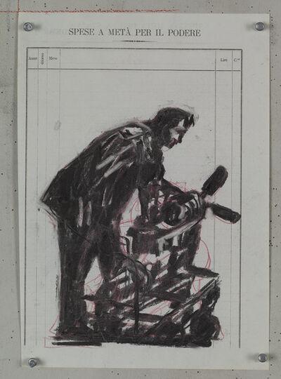 William Kentridge, 'Drawing for Processione di Riparazionisti (7)', 2017