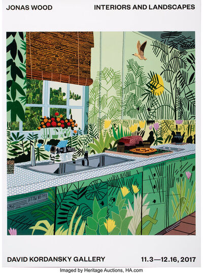 After Jonas Wood, 'Interiors and Landscapes Show Poster', 2017
