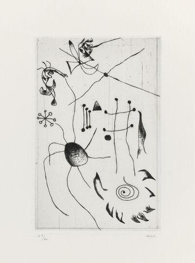 Joan Miró, 'Série noire et rouge: one plate', 1938