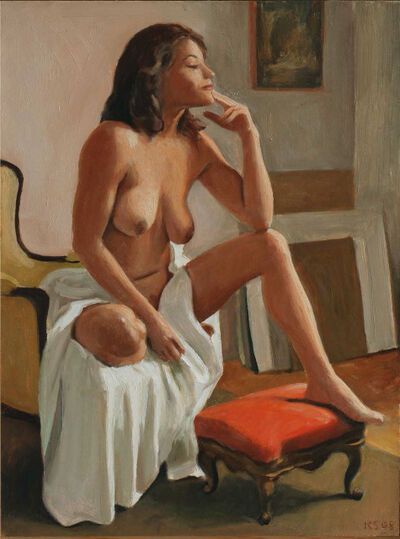 Ron Schwerin, 'Isela Seated (dimensions are with frame)'