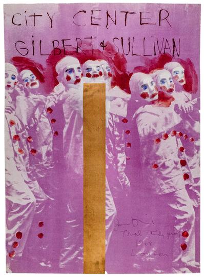 "Jim Dine, 'Hand painted City Center, New York SIGNED ""Gilbert and Sullivan"" ', 1968"