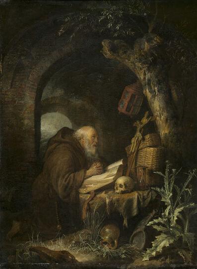 Gerrit Dou, 'The Hermit', 1670