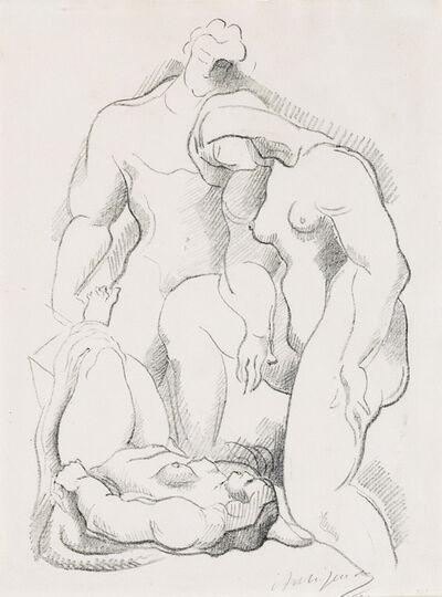 Alexander Archipenko, 'Three Figures, One in Repose', Circa 1921