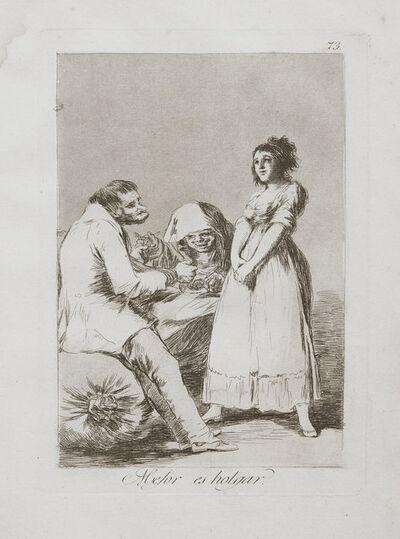 Francisco de Goya, 'Mejor Es Holgar', 1799