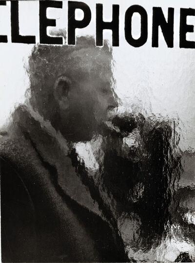 Robert Doisneau, 'Jacques Prévert in a Telephone Booth', 1955