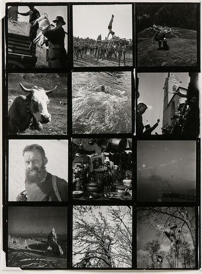 Robert Frank, 'Contact Sheet, Switzerland', 1945-46