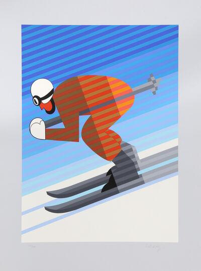 Victor Vasarely, 'Skier', 1984