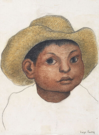 Diego Rivera, 'Boy with Hat', circa 1935
