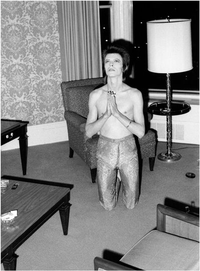 Mick Rock, 'Bowie Praying on Knees', 1972