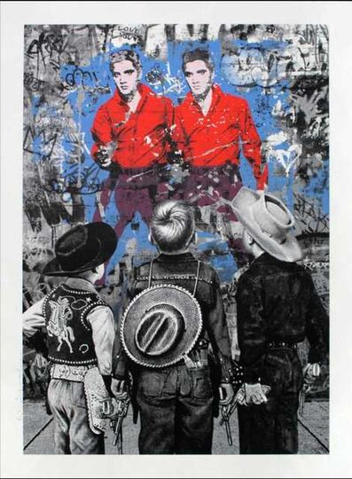 Mr. Brainwash, 'Playing Cowboy', 2020