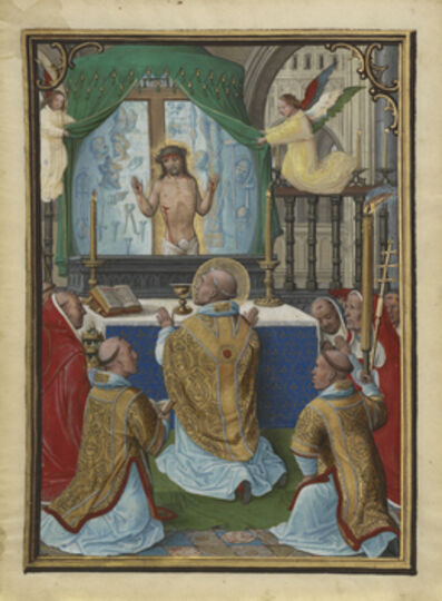Simon Bening, 'The Mass of Saint Gregory', 1535-1540