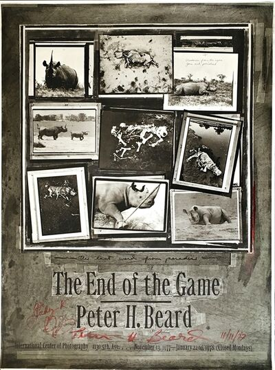 Peter Beard, 'The End of the Game (Hand Signed)', 1977