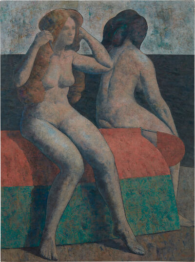 Armando Morales, 'Deux nus assis', 1987