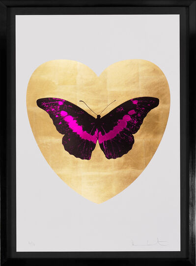 Damien Hirst, ''I Love You' Butterfly, Fuchsia/Gold ', 2015