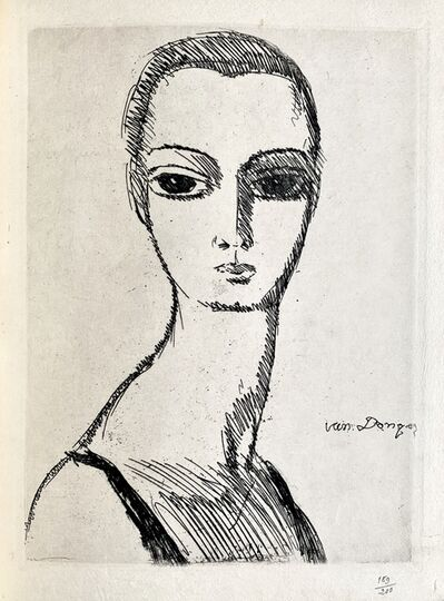 Kees van Dongen, 'Girl with swans neck', 1925