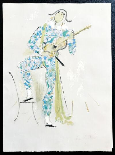 Jean Cocteau, 'Arlequin - Musician', 1954-1955