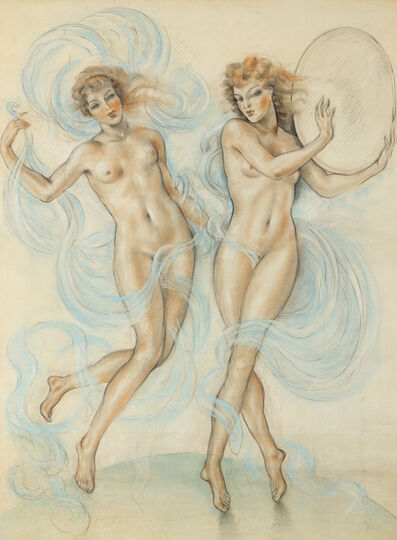 Edouard Chimot, 'Deux Nymphes, (Two Nymphs)', c. 1925